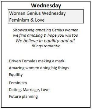3 Wednesday Genius