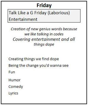 5 Friday Genius