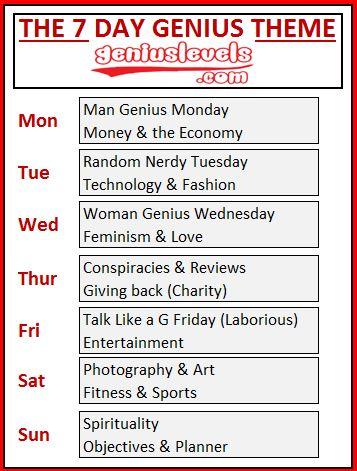 "The 7 Day Genius Theme ""We Genius All Day & All Week"" | Genius Level"