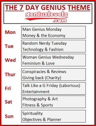 Genius All Week Theme